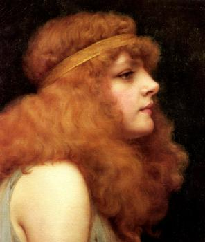 John William Godward : An Auburn Beauty