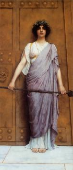 At the Gate of the Temple, The Priestess of Bacchus