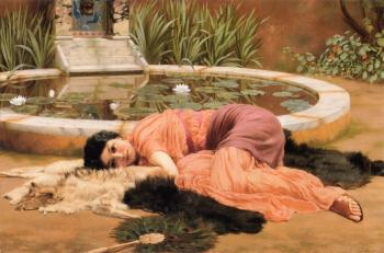 John William Godward : Dolce far niente