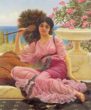 John William Godward : Flabellifera