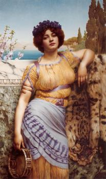 John William Godward : Ionian Dancing Girl