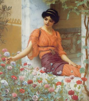 John William Godward : Summer Flowers