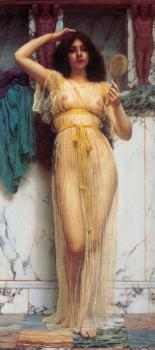 John William Godward : The Mirror