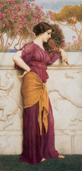 John William Godward : The Peacock Fan