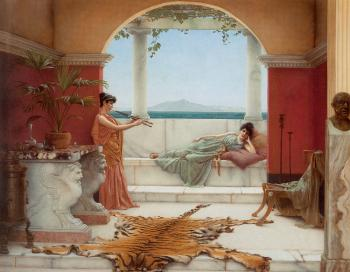 John William Godward : The Sweet Siesta of a Summer Day