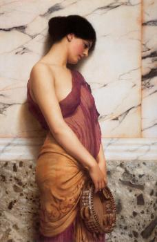 John William Godward : The Tambourine Girl