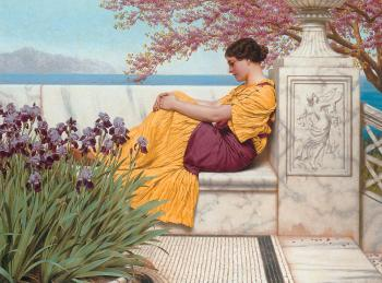 John William Godward : Under the Blossom that Hangs on the Bough