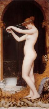 John William Godward : Venus Binding Her Hair