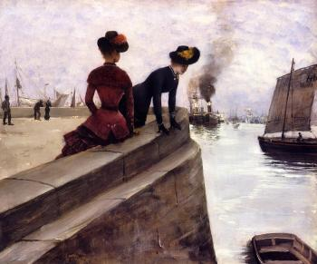 Norbert Goeneutte : On the Jetty, Le Havre