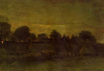 Gogh, Vincent van - Village at Sunset
