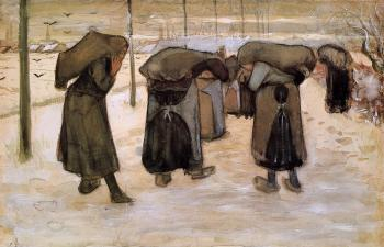 Vincent Van Gogh : Woman Miners Carrying Coal