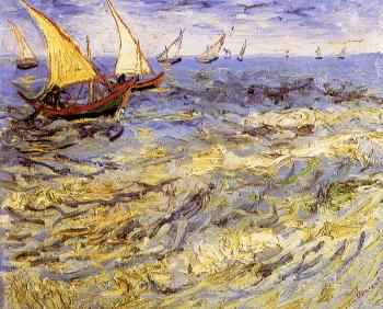 Vincent Van Gogh : Seascape or Sailboats