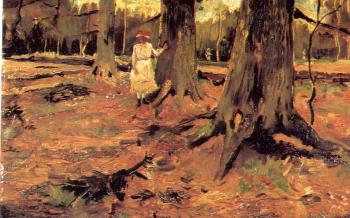 Vincent Van Gogh : A girl in a wood