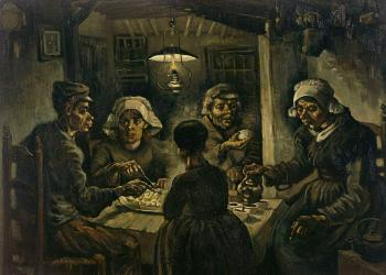 Vincent Van Gogh : The potato eaters II