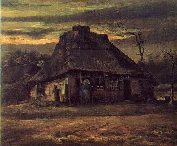 Vincent Van Gogh : Cottage at Nightfall