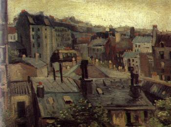 Vincent Van Gogh : View of Roofs and Backs of Houses