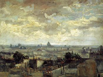 Vincent Van Gogh : The Roofs of Paris