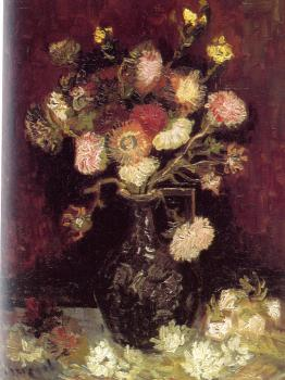 Vincent Van Gogh : Vase with Asters and Phlox