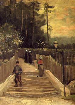 Vincent Van Gogh : A Path in Montmartre