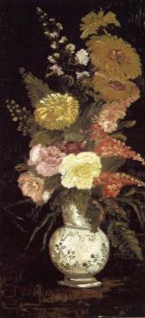 Vincent Van Gogh : Vase with Asters and Other Flowers