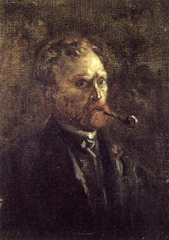 Self-portrait with pipe II