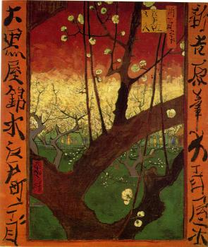 Vincent Van Gogh : Japonaiserie:Flowering Plum Tree(after Hiroshige)