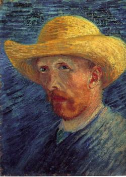 Vincent Van Gogh : Self-Portrait with Straw Hat II