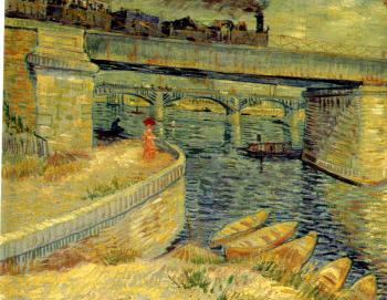 Vincent Van Gogh : Bridges across the Seine at Asnieres