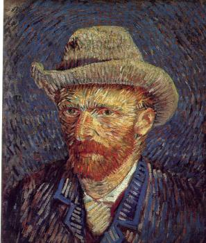 Vincent Van Gogh : Self-Portrait with Grey Felt Hat III