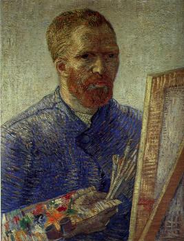 Vincent Van Gogh : Self-Portrait in Front of the Easel