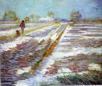 Vincent Van Gogh : Landscape With Snow