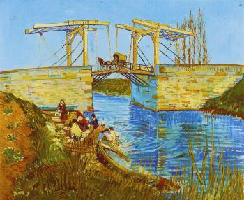 Vincent Van Gogh : Drawbridge with carriage