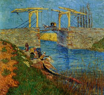 Vincent Van Gogh : Drawbridge with Carriage II