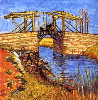 Vincent Van Gogh : Drawbridge with Carriage III