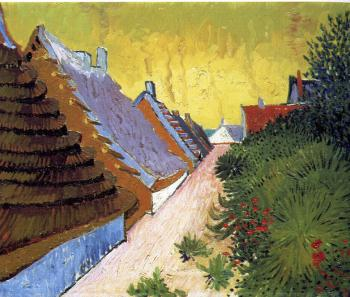 Vincent Van Gogh : Saintes-Maries Road Through The Town