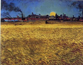 Vincent Van Gogh : Wheat Field with Setting Sun