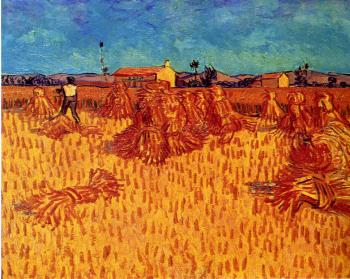 Vincent Van Gogh : Wheat Field with Sheaves
