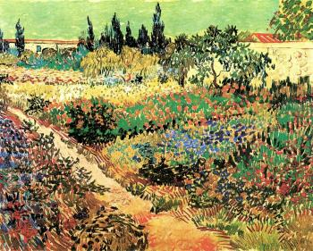 Vincent Van Gogh : Garden with flowers