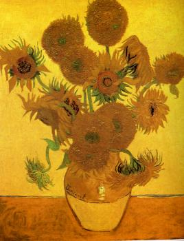 Vincent Van Gogh : Fourteen sunflowers in a vase