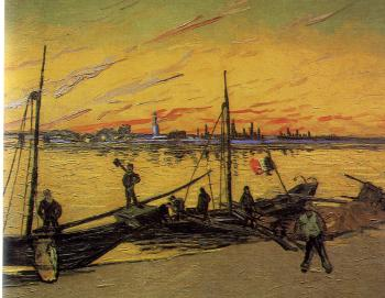 Vincent Van Gogh : Coal Barges