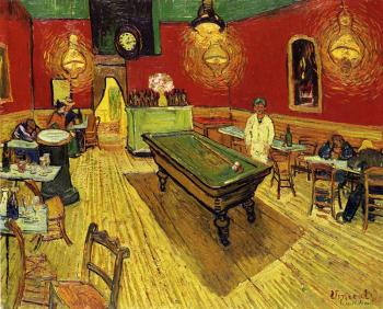 Vincent Van Gogh : The Night Cafe in the Place Lamartine in Arles