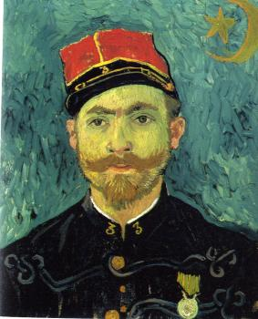 Vincent Van Gogh : Portrait of Paul-Eugene Milliet, Second Lieutenant of the Zouaves
