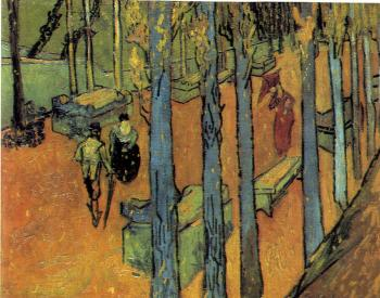 Vincent Van Gogh : The Alyscamps,Avenue at Arles