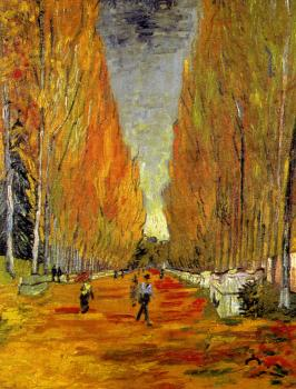 Vincent Van Gogh : The Alyscamps,Avenue at Arles II