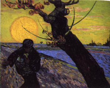 Vincent Van Gogh : Sower with Setting Sun II