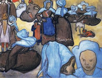 Vincent Van Gogh : Breton Women(after Emile Bernard)