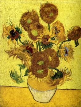 Vincent Van Gogh : Vase with Fourteen Sunflowers