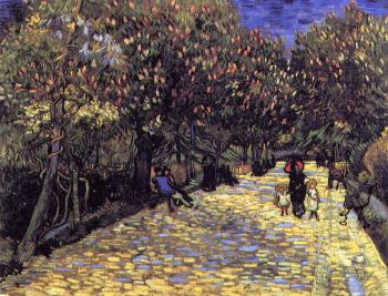 Vincent Van Gogh : Lane with Chestnut Trees in Bloom