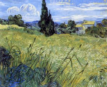 Vincent Van Gogh : Green Wheat Field with Cypress