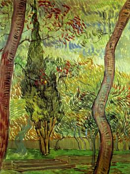 Vincent Van Gogh : Garden of the Hospital Saint-Paul